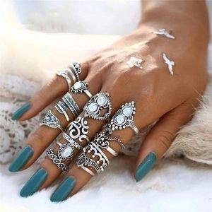 Jewelry - BOHO STYLE FASHION JEWELRY 16 PIECE RING SET